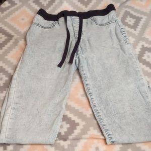 Womens Acid Wash Ankle Length Pants